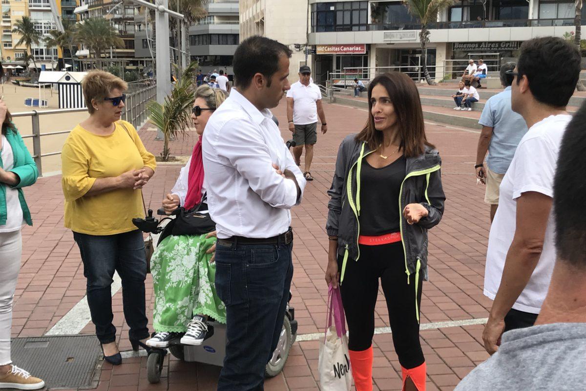 """El PP califica de """"surrealista"""" la prohibición de correr por Las Canteras y pide al tripartito que se preocupe de los problemas reales del litoral"""