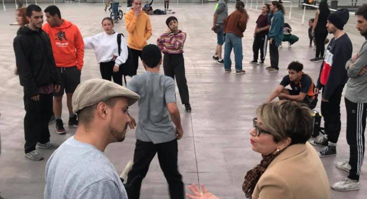 Salud Gil se reúne con colectivos de jóvenes de la capital grancanaria