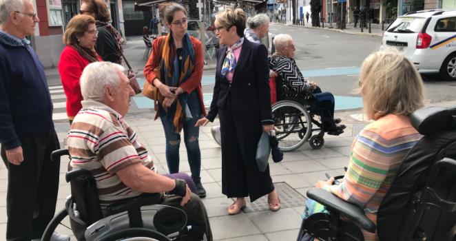 """Salud Gil recuerda que la accesibilidad universal es un elemento de """"justicia social"""" y se compromete a recuperar una concejalía específica"""