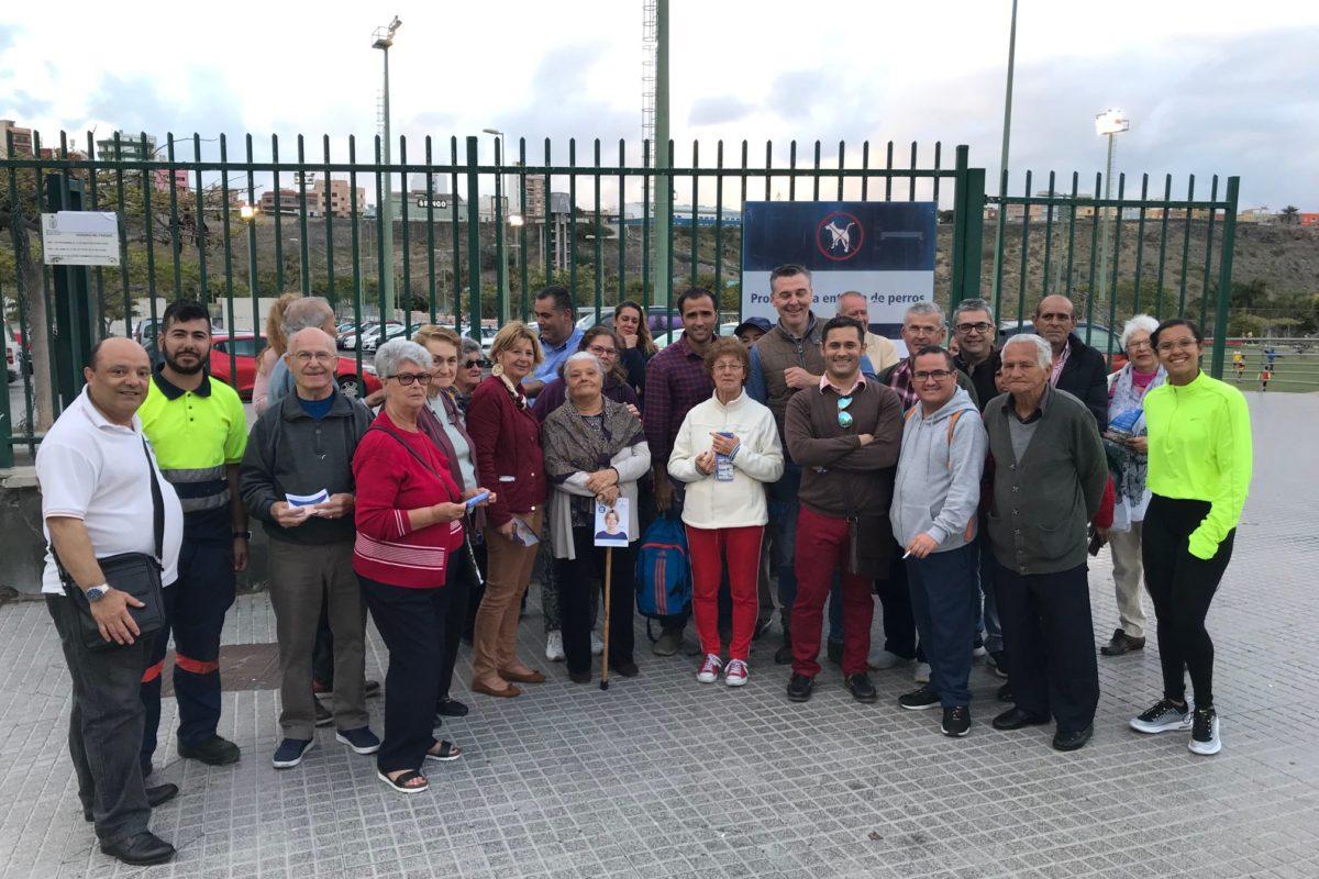 Pepa Luzardo arranca su precampaña centrada en los barrios, la limpieza, la solución a los atascos y los mayores
