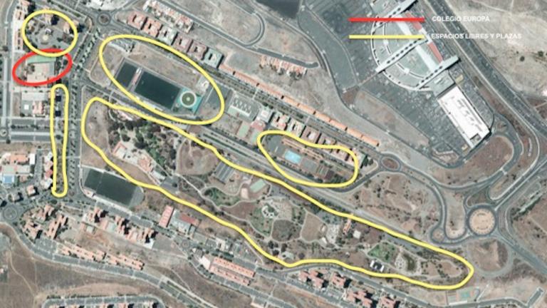 El PP solicita dotaciones sociales en Jinámar en lugar de una explanada de espacio libre donde ya hay miles de metros cuadrados de parque