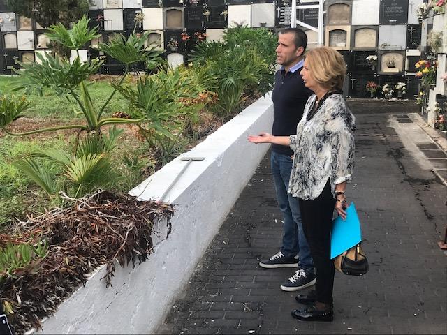 """El PP pide a Hidalgo que """"se implique de una vez"""" en el mantenimiento de los cementerios y propone aprovechar el camposanto de Vegueta como recurso turístico de la ciudad"""
